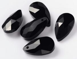 Glas Druppel Hanger 16 mm Black (per stuk)