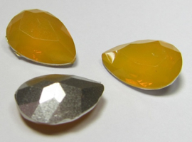 Resin Drop 13 x 18 mm Orange Opal (per 1)