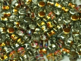 Diabolo Beads 4 x 6 mm Crystal Marea (per 40)