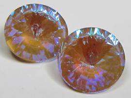 Glass Rivoli 14 mm Crystal Sand DeLite (per 1)