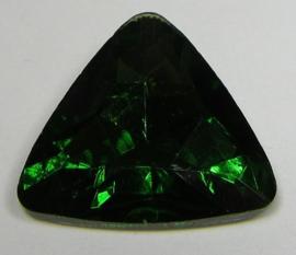 Glas Driehoek 23 mm Fern Green (per stuk)