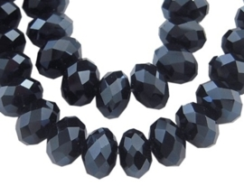 Faceted Rondelles 6 x 8 mm Hematite F366 (per 71 beads)