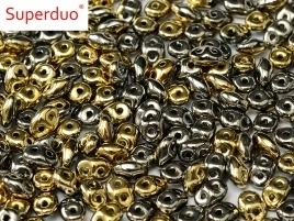 Superduo Bead Jet California Graphite (10 g.)