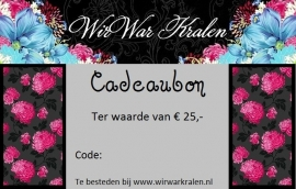 Cadeaubon €25,- (PDF of Geprint)