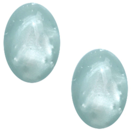 Polaris Cabochon Oval 13 x 18 mm Mosso Shiny Haze Blue (per 1)
