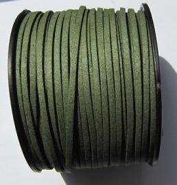 Suede Imitation 3 mm Dark Olive Green SU029 (1 meter)