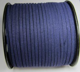 Suede Imitatie 3 mm Dark Indigo Purple SU042 (per meter)