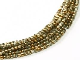 Druk Beads Crystal Amber 2 mm (30 cm strand)