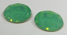 Glass Oval 10 x 14 mm Green Opal (per 1)