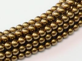 Glass Pearls Brass 2 mm (36 cm strand)