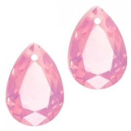 Resin Drop Pendant 10 x 14 mm French Rose Opal (per 2)