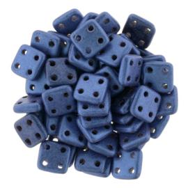 CzechMates QuadraTiles Metallic Suede - Blue (per 5 gram)