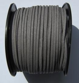 Suede Imitatie 3 mm Dark Gray SU020 (per meter)