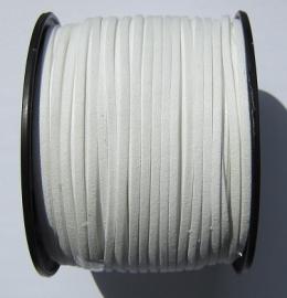 Suede Imitatie 3 mm White SU018 (per meter)