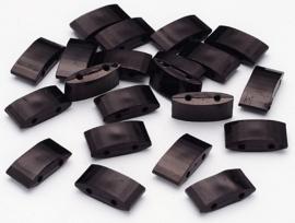 Verdeler Acryl Black 17 x 9 x 5 mm (per 10)