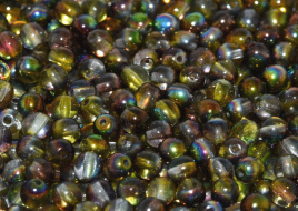 Druk Beads 8 mm Crystal Magic Green (per 10)