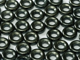 Glass Rings 9 mm Jet Hematite (per 10)