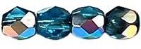 Facet 3 mm Vitral - Dark Aquamarine (per 75)