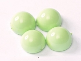Dome Beads 10 x 6 mm Lt. Spring Green (per 5)