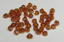 Swarovski Bicone 3 mm Crystal Copper (per 50)
