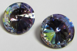 Glass Rivoli 12 mm Rainbow Purple (per 1)