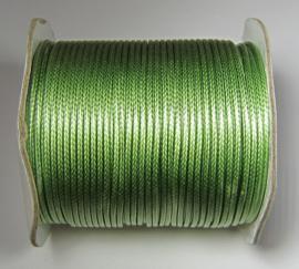 Waxkoord 2 mm Pale Green W136 (per meter)