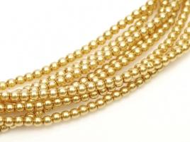 Glasparel Light Gold 3 mm (per 44 cm streng)