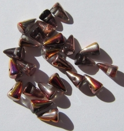 Spikes 5 x 8 mm Crystal Sliperit (per 24)