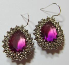 Kit Oorbellen Nala Purple/Pink (Inclusief patroon)
