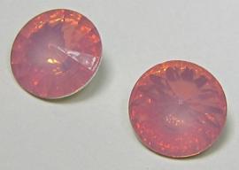Resin Rivoli 10 mm Dark Rose Opal (per 4)