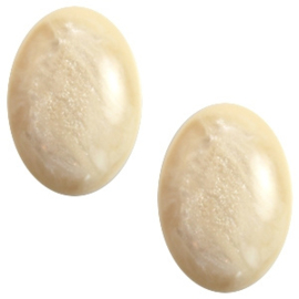 Polaris Cabochon Oval 13 x 18 mm Jais Afterglow Beige (per 1)