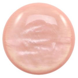 Polaris Cabochon Munt 35 mm Parelmoer Vintage Rose (per stuk)