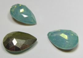 Resin Drop 13 x 18 mm Light Green Turquoise Opal (per 1)