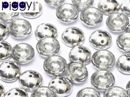 Piggy Beads 4 x 8 mm Crystal Labrador (per 18)