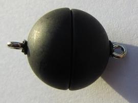 Magneetslotje Acryl Mat Black 15 mm S507 (per stuk)