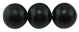 Glass Pearls Black 3 mm B20 (65 cm strand)