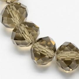 Faceted Rondelles 3 x 4 mm Black Diamond F541 (per 147 beads)