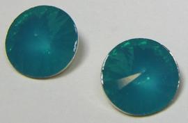 Resin Rivoli 10 mm Blue Zircon Opal (per 4)