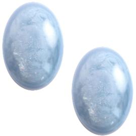 Polaris Cabochon Ovaal 10 x 13 mm Jais Cloud Blue (per stuk)