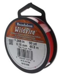 "Beadalon Wildfire Red (0.006"") 0,15 mm (per rol van 45 meter)"