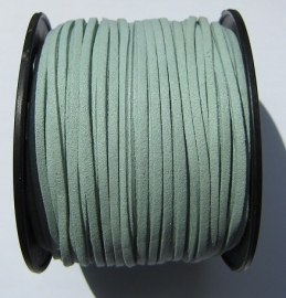 Suede Imitation 3 mm Gray Mint SU013 (1 meter)