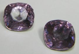 Resin Vierkant 12 mm Violet (per 2)