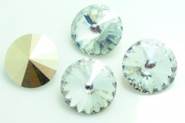 Resin Rivoli 16 mm Crystal (per 2)