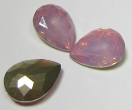 Resin Druppel 13 x 18 mm Rose Opal (per stuk)