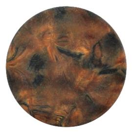 Polaris Cabochon Coin Flat 35 mm Perseo Matt Black Smoke Topaz (per 1)