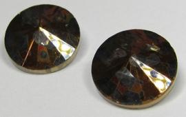 Glass Rivoli 14 mm Copper Patina (per 1)