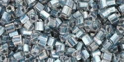TG-11-288 Inside-Color Crystal/Metallic Blue Lined (per 10 gram)