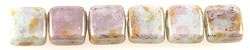 CzechMates Tiles Bronze Picasso - Opaque Pale Jade (per 12)