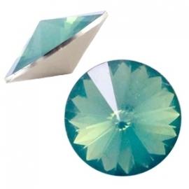 Resin Rivoli 12 mm Turmaline Green Opal (per 3)