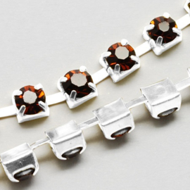 Cup Chain SS12 3 mm Smoked Topaz (per meter)